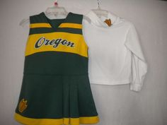 Genuine Stuff Toddler Size 3T Oregon Ducks 2 piece Girls Cheerleading Dress Set…