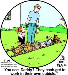 Family Circus Cartoon for May/24/2014