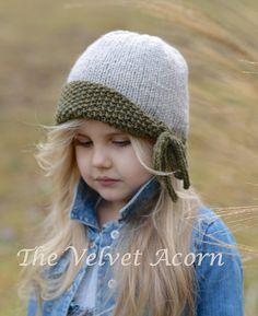 Knitting PATTERN-The Geneva Hat Toddler Child от Thevelvetacorn