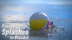 Create Splashes : Blender Tutorial : Fluid Sim + Ocean Modifer!