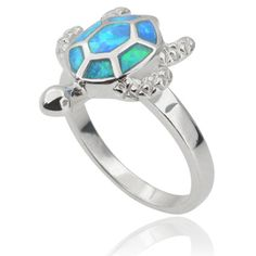 Tressa Collection Sterling Silver Opal Sea Turtle Ring