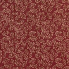 Burgundy or Red or Rust and Gold or Yellow color Foliage and Small Scale pattern Damask or Jacquard and Fade Resistant type Upholstery Fabric called CRIMSON or LEAF by KOVI Fabrics Fabric Rug, Chair Fabric, Decorative Leaves, Needlework Shops, Upholstery Cleaner, Couch Covers, Burgundy And Gold, Green Colors, Damask