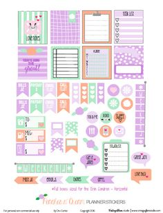 Peaches N Cream Planner Stickers - Free Printable - Vintage Glam Studio
