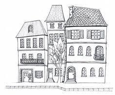 Desenho do Dia #181 - Casinhas - Soraia Casal