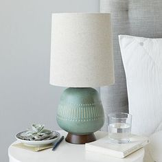 for on a more glam table, pulls in the rug color, Mid-Century Table Lamp - Jar