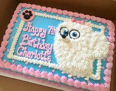 Secret Life of Pets cake featuring Gidget #decoratedsheetcakes #sheetcakesdonthavetobeboring #secretlifeofpets
