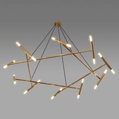 Buy Le Pentagon Chandelier by Jonathan Browning Studios - Ceiling - Lighting - Dering Hall