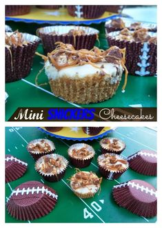 Mini Snickers Cheesecakes Mini Snickers, Snickers Ice Cream, Snickers Candy Bar, Snickers Cheesecake, Cheesecake Desserts, Brownie Recipes, Dessert Recipes, Sweet Desserts, Cooking Ice Cream