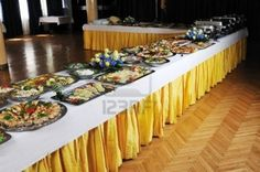 catering: buffet catering food arangement on table Stock Photo Catering Food, Catering Services, Wedding Catering, Catering Buffet, Catering Ideas, Food Set Up, Stock Pictures, Stock Photos, Rehearsal Dinners