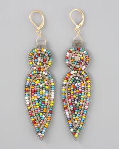Beaded Earrings. Love these