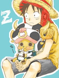#Luffy and #Chopper ☃