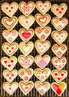 Decorated hearts...so many ways!