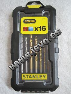 Caja con 16 accesorios Stanley ® Ref.: STA7221-XJ para taladrar y atornillar (Brocas, adaptador magnético y puntas para atornillar) www.jsvo.es