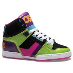 9b52fff9abbdbe Take a look at this Green   Black NYC 83 Slim Hi-Top Sneaker - Kids by Osiris  Shoes on today!