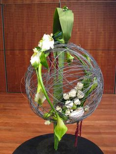 Inspiration: sphere with floral accents