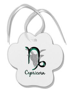 Capricorn Symbol Paw Print Shaped Ornament
