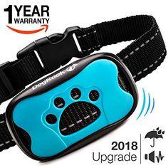Dog Bark Collar Upgrade 2018 – Humane Anti Bark Training Collar – Vibration No Shock Collar – Stop Barking Collar for Small Medium Large…