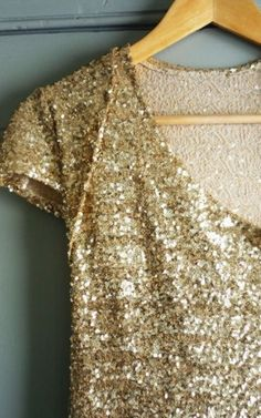 Gold sequined shirt