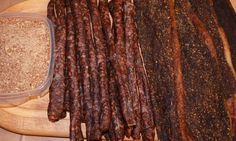 Items similar to Beef Biltong - South African Jerky on Etsy South African Dishes, Biltong, Bbq Grill, Beef, Afrikaans, Sausages, House Styles, Ham, Roots