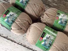 Lot 2 NEW Viking of Norway Baby Ull Yarn Merino Wool Fingering #0 Beige 307 #VikingofNorway #Baby