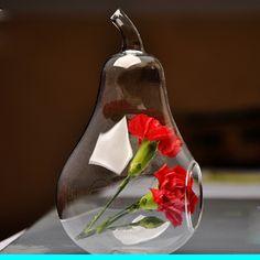 Pear Terrarium Glass Round Pots Flower Pot Vases Tabletop Wedding Decoration Blow Pots Pear Terrarium