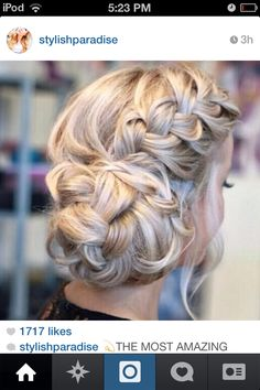 beautiful braided up style