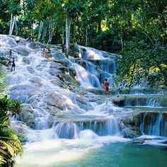 Dunn's River, Ocho Rios, Jamacia The husband climbed it while I drank rum punch with the guides!