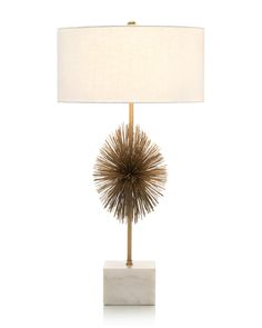 Shop the John-Richard Liza Hollywood Modern Gold Starburst Marble Table Lamp - and other Table Lamps at Kathy Kuo Home Lighting Sale, Home Lighting, Lighting Design, Iron Table, A Table, Thing 1, Brass Table Lamps, Interior Design Services, A Boutique