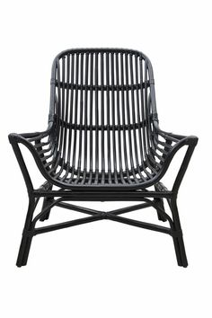 House Doctor Colony rattan lounge chair black