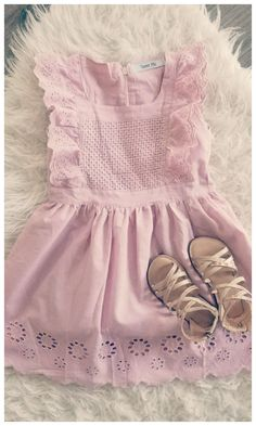 467c000cfb1 blush flutter easter dress with eyelet trim  easter  toddler  affiliate Little  Girl Outfits