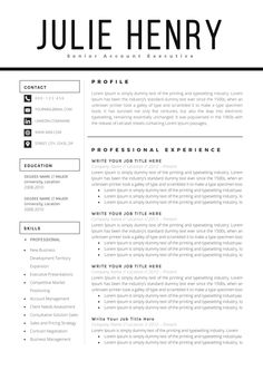 modern resume template cv template cover letter professional and creative resume teacher resume word resume instant download - Word Resume Format