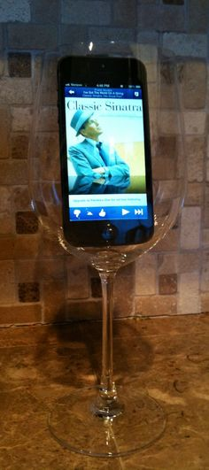 If you put your phone or iPod into an empty wine glass it amplifies the sound of the music increasing sound quality without having to spend money on an expensive system. Makes for a fun party trick too.