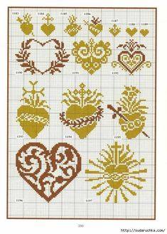 Schema punto croce cuori-religiosi buh je laska вязание, вышивка крестом a Mini Cross Stitch, Cross Stitch Heart, Cross Stitch Borders, Cross Stitch Designs, Cross Stitching, Cross Stitch Embroidery, Heart Patterns, Embroidery Patterns, Cross Stitch Patterns