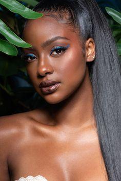 Dark Skin Makeup, Dark Skin Beauty, Black Beauty, Women's Beauty, Beautiful Black Girl, Pretty Black Girls, Beautiful Women, Human Hair Color, Best Concealer
