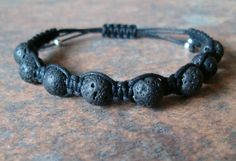 Black Lava Healing Energy Bracelet  ~ Lava is very grounding (as it comes from literally deep inside the earth) and is also a great stone for transformation. The beads are porous some they will absorb essential oils which will last 2-3 days… no need to keep applying oils to the skin.
