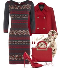 """""""Pretty Red"""" by gracekathryn on Polyvore"""