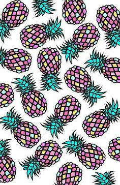 Imagem de wallpaper, pineapple, and background Cute Backgrounds, Cute Wallpapers, Wallpaper Backgrounds, Iphone Wallpaper, Cool Wallpaper, Pattern Wallpaper, Pattern Art, Pattern Design, Textures Patterns