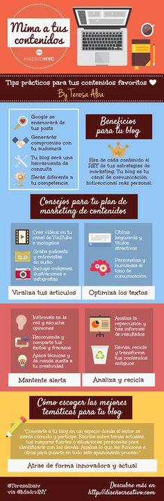 Cómo mimar tus contenidos #infografia #infographic #marketing   TICs y Formación
