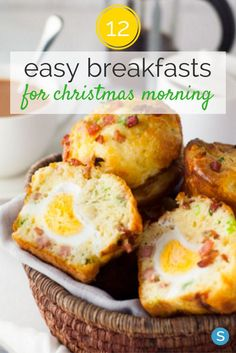 From bacon and egg breakfast muffins to eggnog loaves, these 12 breakfast recipes are sure to please a crowd on Christmas morning! Get the recipes here.