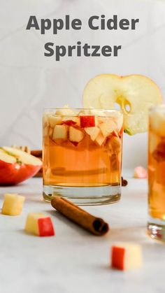 Enjoy a Healthy Apple Cider Spritzer this fall. Made with only a few simple ingredients, this drink is light and refreshing. #applecider #fallcocktail #fall #fallrecipes Fall Recipes, Delicious Vegan Recipes, Clean Recipes, Whole Food Recipes, Diet Recipes, Healthy Cocktails, Fall Cocktails, Healthy Smoothies, Drinks
