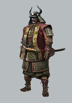 View an image titled 'Samurai General Concept Art' in our Sekiro: Shadows Die Twice art gallery featuring official character designs, concept art, and promo pictures. Game Character Design, Character Design References, Character Concept, Character Art, Concept Art, Kabuto Samurai, Ronin Samurai, Samurai Warrior, Ninja