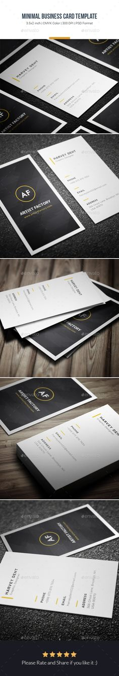 Minimal Business Card Template - Creative Business Cards - download here [Affiliate]: https://graphicriver.net/item/minimal-business-card-template/15860334?ref=ibrandstudio