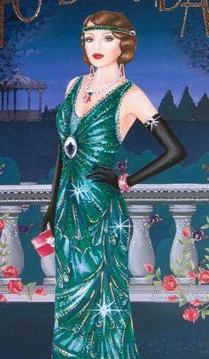 Vintage Art, Vintage Ladies, Art Deco Cards, Art Deco Fashion, Vintage Fashion, Art Deco Illustration, Decoupage Art, Art Deco Home, Art For Art Sake