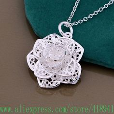 Freies Verschiffen 925-sterling-silver Halskette, 925-silver-fashion schmuck/ccnaktua doxamgea P347
