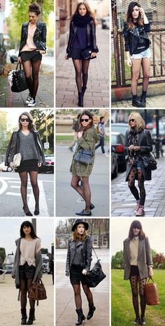 how to wear polka dot tights // amazing outfits with dotted tights
