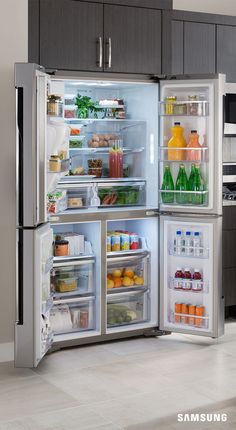 Drawers and shelves and crispers, oh my. With so many compartments in your refrigerator, how are you supposed to know where to put anything? Simple. By checking out this fridge organization cheat sheet. From shelving ideas to drawer organization, it tells you all the right places to put your groceries so they stay fresh longer and fit seamlessly in your fridge.