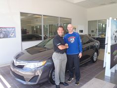 John ready to take home his brand new #2013 #Camry -- Welcome to the #DavidMausToyota Family -- #Toyota #WhateverItTakes #Sedan #ToyotaCamry