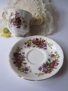 Vintage Paragon Bone China Flower Festival Teacup & by jenscloset, $24.50