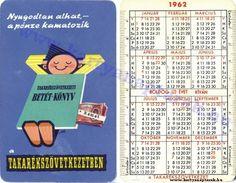 1962 - 1962_0001 - Régi magyar kártyanaptárak