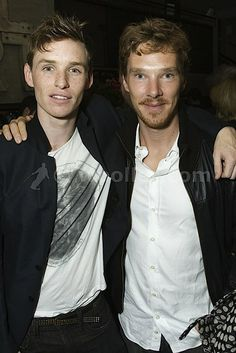 Benny and Eddie Redmayne  I think i need a moment. for this one picture i like the other guy better than benedict cumberbatch.